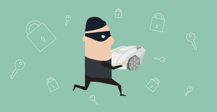 rasenroboter diebstahl- das muss beachtet werden